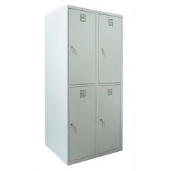 Ячеечный металлический шкаф на 4 отделения