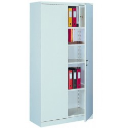 Bivalve metal cabinet for documents with Cache