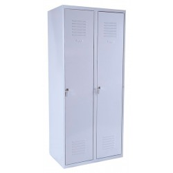 Double compartment wardrobe locker (monoblock/welded construction)