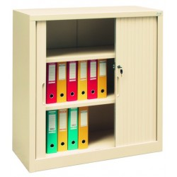 Металлический офисный шкаф с дверями типа жалюзи