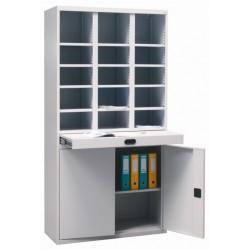 Шкаф с ячейками для сортировки и хранения документов и почты Sbmk 1