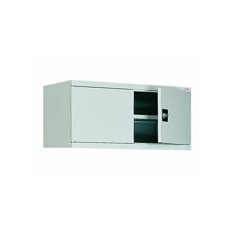 Антресоль со створчатыми дверьми для металлического офисного шкафа.