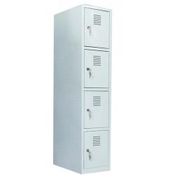 Ячеечный шкаф металлический (локер) на 4 отделения