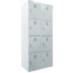4 tier locker width 8 compartments (monoblock/welded construction)
