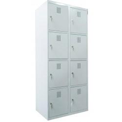 4 tier locker width 8 compartments (monoblock/welded construction)
