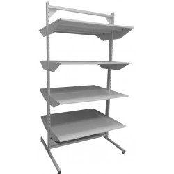Metal shelves double-sided