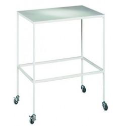 Мобильный хирургический столик металлический с порошковой окраской.